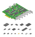 computer electronic circuit board component pc and vector image vector image