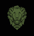 copper lion on a black background vector image