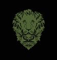 copper lion on a black background vector image vector image