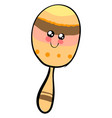 cute maracas on white background vector image