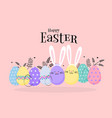 easter egg hunt poster invitation template in vector image