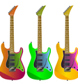 electric guitars vector image