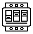 electric switchboard icon outline style vector image
