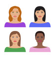 female avatar set vector image vector image