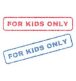for kids only textile stamps vector image vector image
