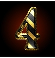 golden and black letter 4 vector image vector image