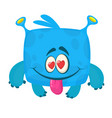 happy cartoon monster in love st valentines day vector image vector image