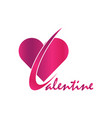happy valentine symbol vector image