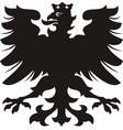 heraldic eagle black white silhouette vector image vector image