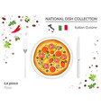 italian cuisine european national dish collection vector image