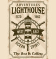 lighthouse vintage nautical poster vector image