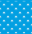 luxury fortress pattern seamless blue vector image vector image
