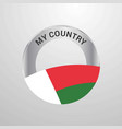 madgascar my country flag badge vector image
