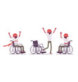male black young wheelchair user in positive vector image vector image