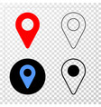map pointer eps icon with contour version vector image vector image