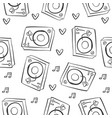 musical instrument pattern style collection vector image vector image