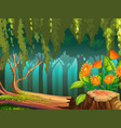 nature scene with flowers in forest vector image