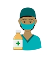 Nurse with uniform Medical care design vector image vector image