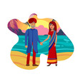 old married couple husband and wife vector image vector image