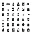 organic fertilizer icons set simple style vector image vector image
