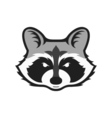 Raccoons head logo for sport club or team Animal vector image