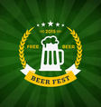 Retro Vintage Badge or Label for Beer Festival on vector image