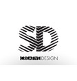 sd s d lines letter design with creative elegant vector image vector image