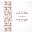 seamless border in Eastern style vector image vector image