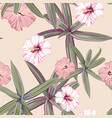 seamless pattern hibiscus flowers vector image vector image