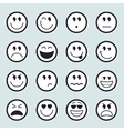 set emoticons icons vector image