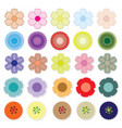 set of bright flower vector image vector image