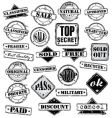 sign stamps set vector image vector image