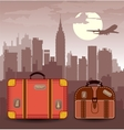 suitcases for travel vector image vector image