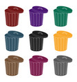 trash can icon in black style isolated on white vector image vector image