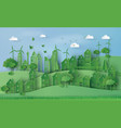 urban countryside landscape city village vector image vector image