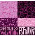 valentine pattern set vector image vector image