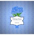 Vintage label design with blue flowers vector image vector image