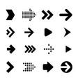 vrctor arrow icon set vector image vector image