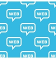 WEB message pattern vector image vector image