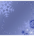 winter blue background vector image vector image