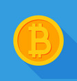 crypto currency bitcoin flat logo icon for vector image