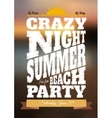 Summer night party poster vector image