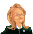 2016 Hillary vector image