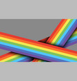 abstract intersected rainbow lines template vector image
