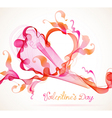 Abstract pink heart vector image vector image