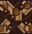 abstract seamless pattern in coffee tones vector image vector image