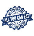 all you can eat stamp sign seal vector image vector image