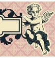 Angel in style of a baroque vector image vector image