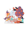 apple picking concept for web banner vector image