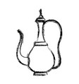 arabic traditional teapot icon vector image